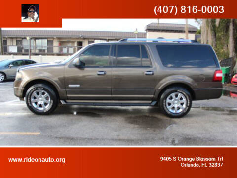 2008 Ford Expedition EL for sale at Ride On Auto in Orlando FL