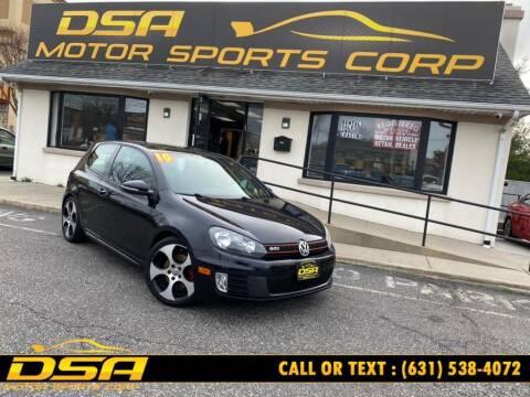 2010 Volkswagen GTI for sale at DSA Motor Sports Corp in Commack NY