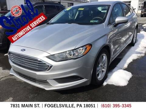 2018 Ford Fusion for sale at Strohl Automotive Services in Fogelsville PA