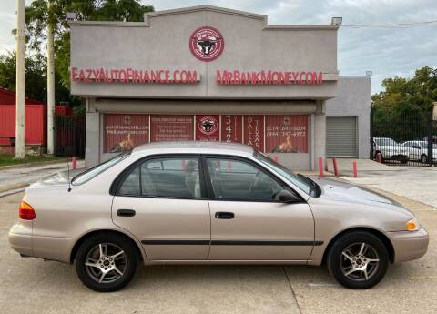 2000 Chevrolet Prizm for sale at Eazy Auto Finance in Dallas TX