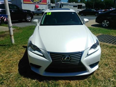 2016 Lexus IS 200t for sale at AUTOPLEX 528 LLC in Huntsville AL