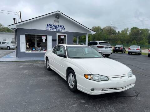 2003 Chevrolet Monte Carlo for sale at Hensley Auto Sales in Frankfort KY