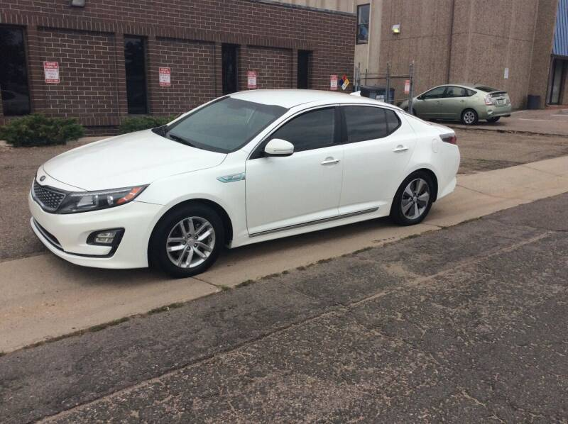 2014 Kia Optima Hybrid for sale at AROUND THE WORLD AUTO SALES in Denver CO