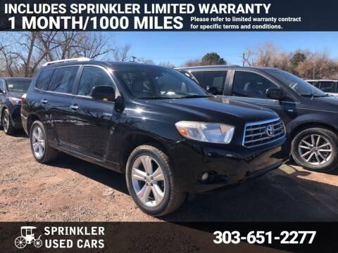 2008 Toyota Highlander for sale at Sprinkler Used Cars in Longmont CO