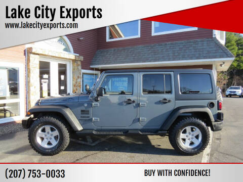2014 Jeep Wrangler Unlimited for sale at Lake City Exports in Auburn ME