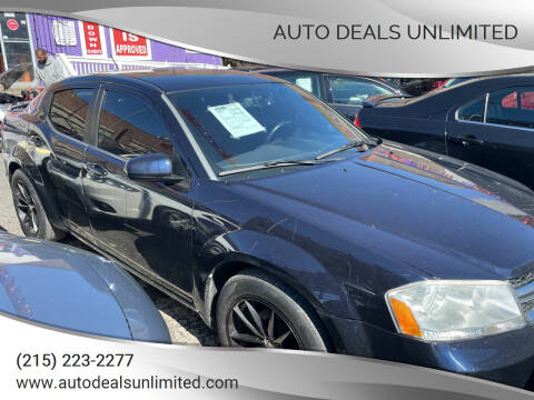 2011 Dodge Avenger for sale at AUTO DEALS UNLIMITED in Philadelphia PA