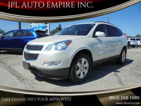 2012 Chevrolet Traverse for sale at JPL AUTO EMPIRE INC. in Auburndale FL
