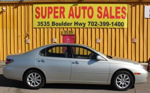 2004 Lexus ES 330 for sale at Super Auto Sales in Las Vegas NV