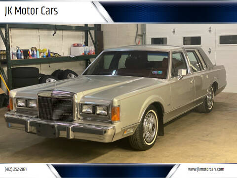1989 Lincoln Town Car for sale at JK Motor Cars in Pittsburgh PA