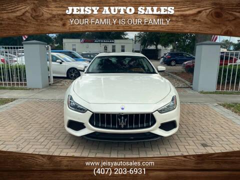 2018 Maserati Ghibli for sale at JEISY AUTO SALES in Orlando FL