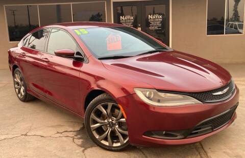 2015 Chrysler 200 for sale at AUTO NATIX in Tulare CA