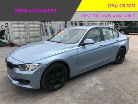 2013 BMW 3 Series for sale at Guru Auto Sales in Miramar FL
