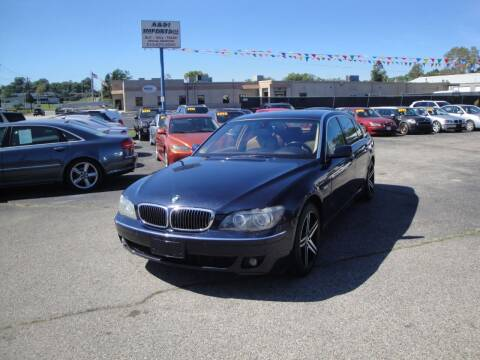 2007 BMW 7 Series for sale at A&S 1 Imports LLC in Cincinnati OH