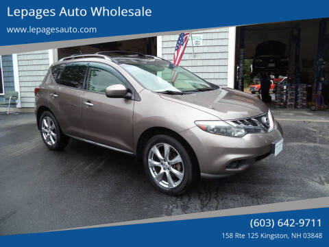 2012 Nissan Murano for sale at Lepages Auto Wholesale in Kingston NH