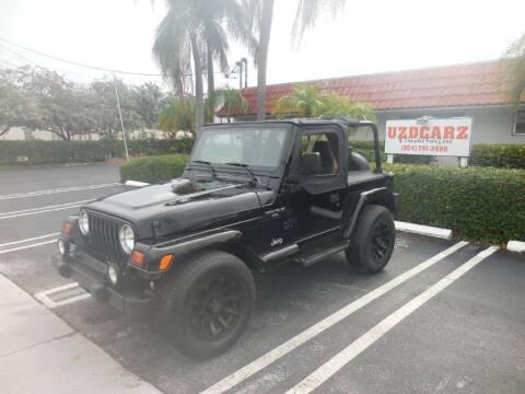1998 Jeep Wrangler for sale at Uzdcarz Inc. in Pompano Beach FL