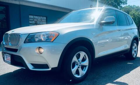 2012 BMW X3 for sale at Trimax Auto Group in Norfolk VA