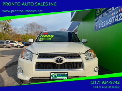 2010 Toyota RAV4 for sale at PRONTO AUTO SALES INC in Indianapolis IN