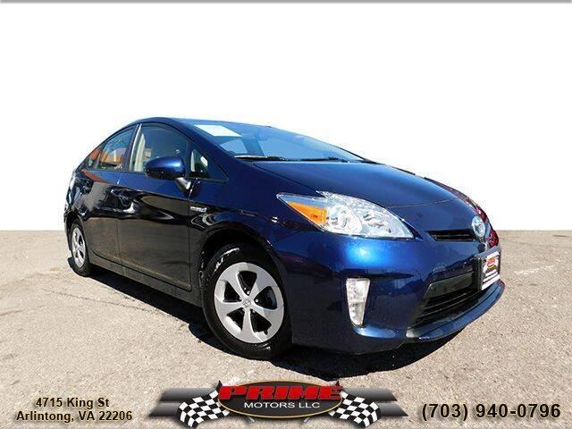 2015 Toyota Prius for sale at PRIME MOTORS LLC in Arlington VA