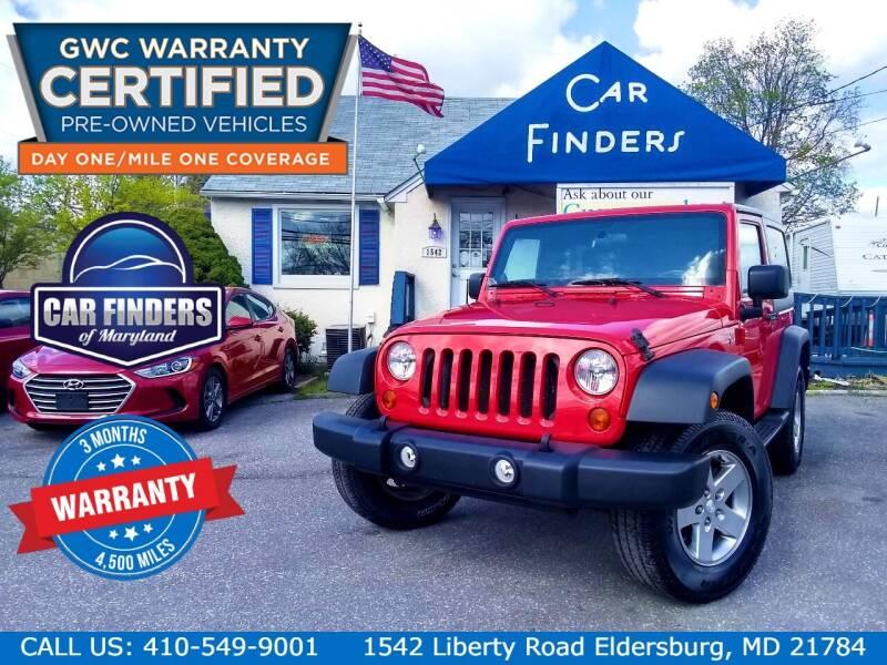2011 Jeep Wrangler for sale at CAR FINDERS OF MARYLAND LLC - Certified Cars in Eldersburg MD
