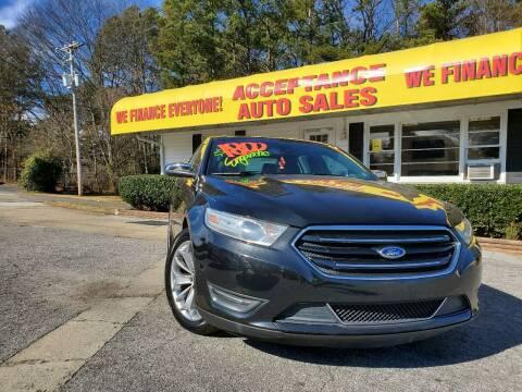 2014 Ford Taurus for sale at Acceptance Auto Sales in Marietta GA