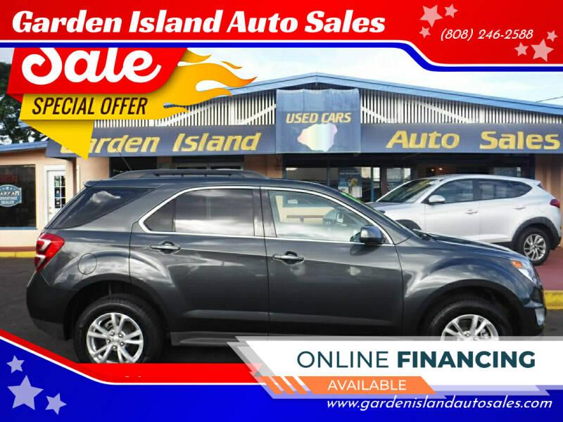 2017 Chevrolet Equinox for sale at Garden Island Auto Sales in Lihue HI