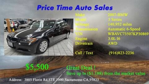 2007 BMW 3 Series for sale at PRICE TIME AUTO SALES in Sacramento CA