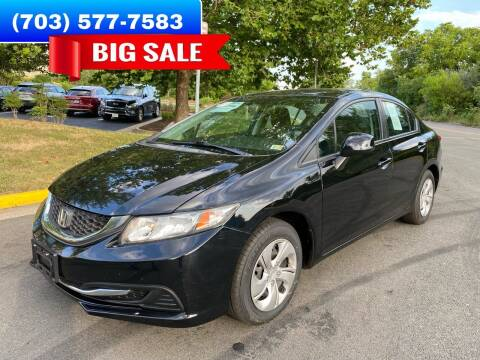 2013 Honda Civic for sale at Dreams Auto Group LLC in Sterling VA