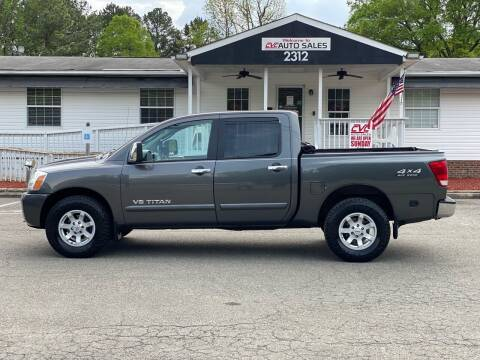 2007 Nissan Titan for sale at CVC AUTO SALES in Durham NC