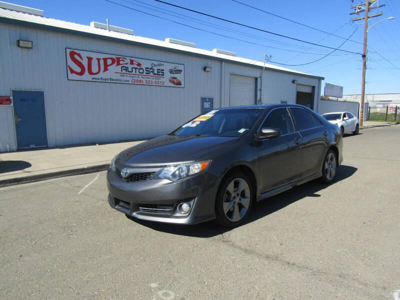 2012 Toyota Camry for sale at SUPER AUTO SALES STOCKTON in Stockton CA