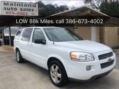2007 Chevrolet Uplander for sale at Mainland Auto Sales Inc in Daytona Beach FL