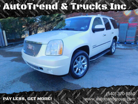 2011 GMC Yukon for sale at AutoTrend & Trucks Inc in Fredericksburg VA