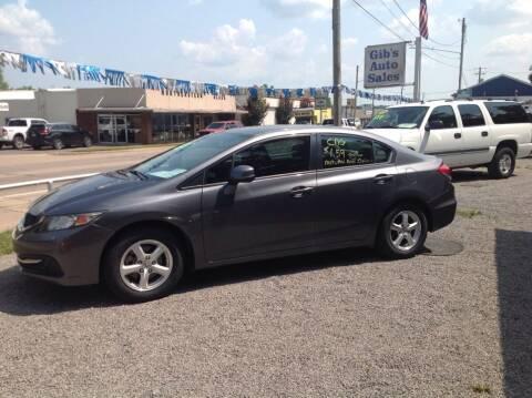 2013 Honda Civic for sale at GIB'S AUTO SALES in Tahlequah OK