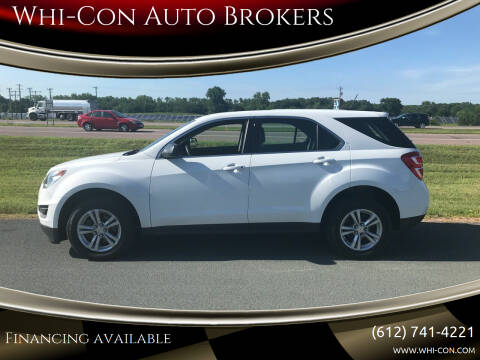 2017 Chevrolet Equinox for sale at Whi-Con Auto Brokers in Shakopee MN