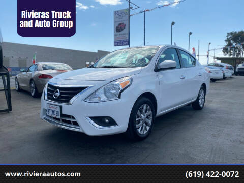 2018 Nissan Versa for sale at Rivieras Truck and Auto Group in Chula Vista CA