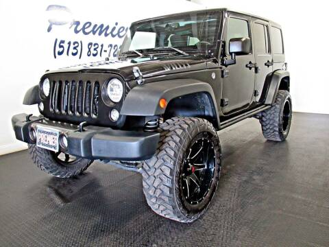 2016 Jeep Wrangler Unlimited for sale at Premier Automotive Group in Milford OH