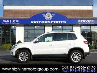 2017 Volkswagen Tiguan for sale at Highline Group Motorsports in Lowell MA