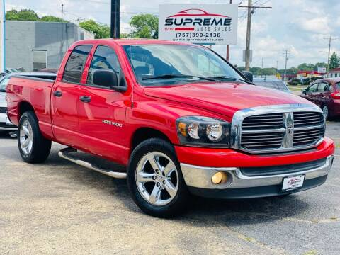 2007 Dodge Ram Pickup 1500 for sale at Supreme Auto Sales in Chesapeake VA