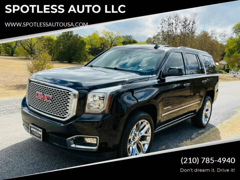 2017 GMC Yukon for sale at SPOTLESS AUTO LLC in San Antonio TX
