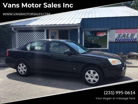 2007 Chevrolet Malibu for sale at Vans Motor Sales Inc in Traverse City MI