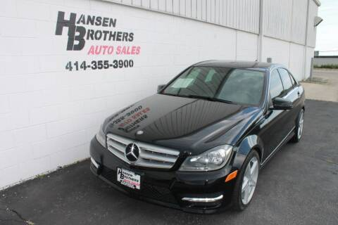 2013 Mercedes-Benz C-Class for sale at HANSEN BROTHERS AUTO SALES in Milwaukee WI
