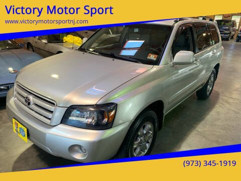 2004 Toyota Highlander for sale at Victory Motor Sport in Paterson NJ