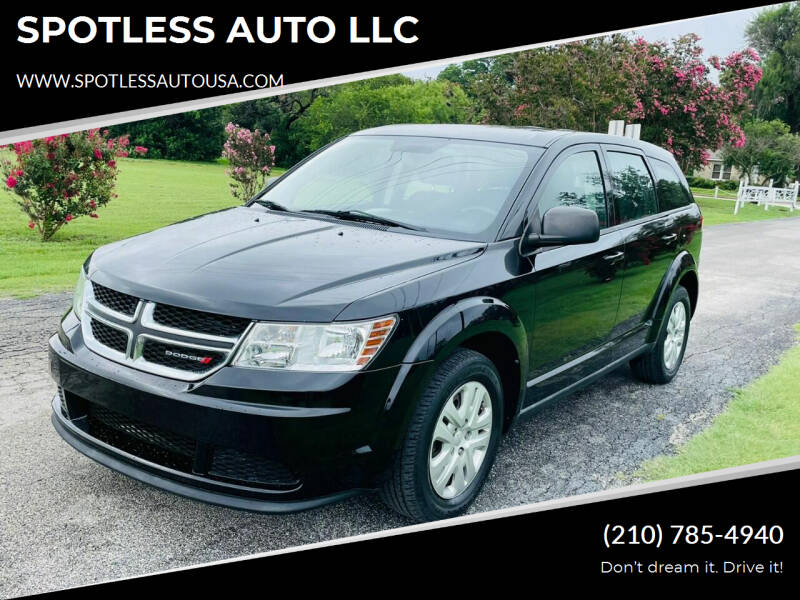 2014 Dodge Journey for sale at SPOTLESS AUTO LLC in San Antonio TX