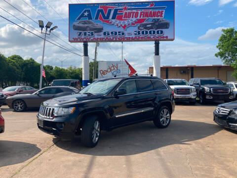 2013 Jeep Grand Cherokee for sale at ANF AUTO FINANCE in Houston TX