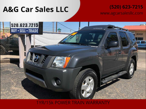 2008 Nissan Xterra for sale at A&G Car Sales  LLC in Tucson AZ