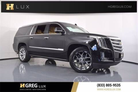 2017 Cadillac Escalade ESV for sale at HGREG LUX EXCLUSIVE MOTORCARS in Pompano Beach FL