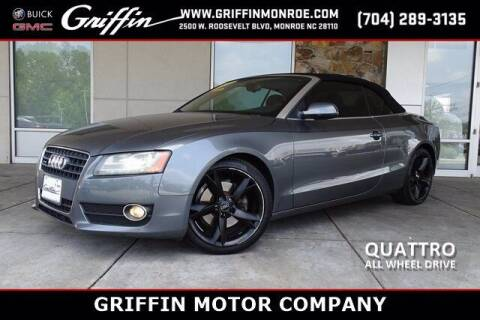 2012 Audi A5 for sale at Griffin Buick GMC in Monroe NC