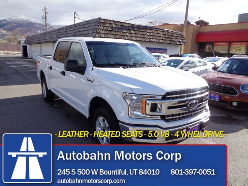 2018 Ford F-150 for sale at Autobahn Motors Corp in Bountiful UT