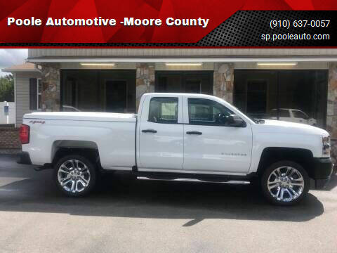 2017 Chevrolet Silverado 1500 for sale at Poole Automotive -Moore County in Aberdeen NC