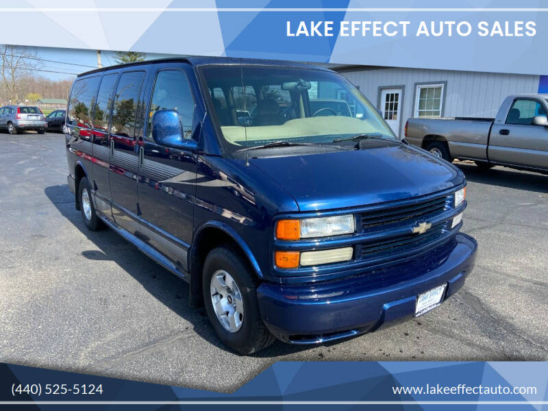 2002 Chevrolet Express Passenger for sale at Lake Effect Auto Sales in Chardon OH