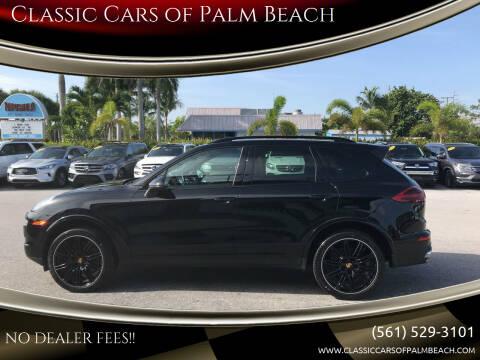 2018 Porsche Cayenne for sale at Classic Cars of Palm Beach in Jupiter FL
